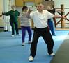 Instructor Carlan Steward leading class