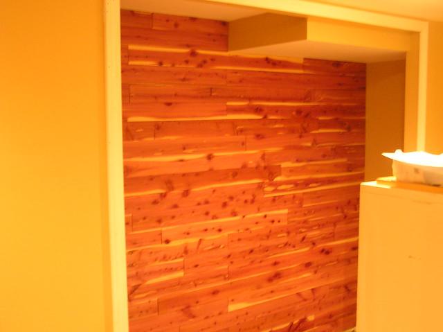 Cedar Plank Lining In Closet Finished Flickr Photo Sharing