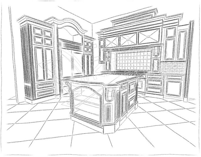 3d Cad Sketch If Your Kitchen Drawings Require The Hand