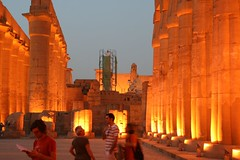 luxor temple at dusk, thebes, egypt 2