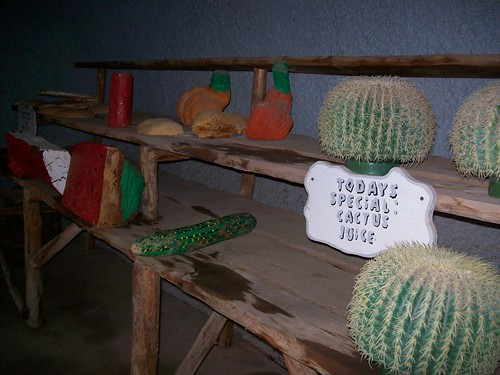 Today's Special: Cactus Juice - inside the market at Bedrock City, Arizona - bedrock14x