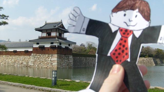 Flat Stanley at Hiroshima Castle