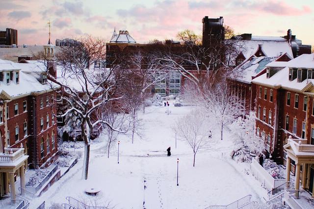 Pembroke in Snow