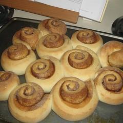 breakfast(0.0), baking(1.0), schnecken(1.0), baked goods(1.0), cinnamon roll(1.0), food(1.0), cuisine(1.0), danish pastry(1.0),