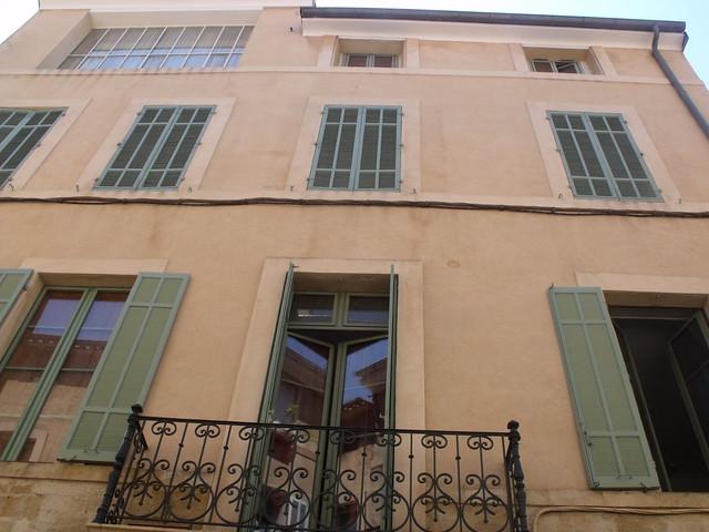 23 rue boulegon aix en provence final home of paul cezanne shutters flickr photo sharing. Black Bedroom Furniture Sets. Home Design Ideas