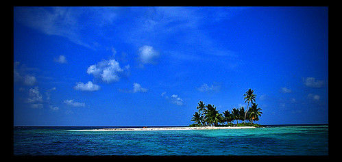 Palm Tree Island, Silk Cayes, Belize