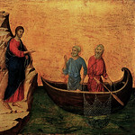 DUCCIO di Buoninsegna Calling of Apostles Peter and Andrew