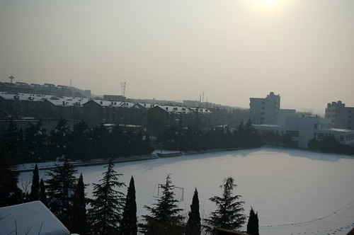 sunset snow 雪 日落 huainan