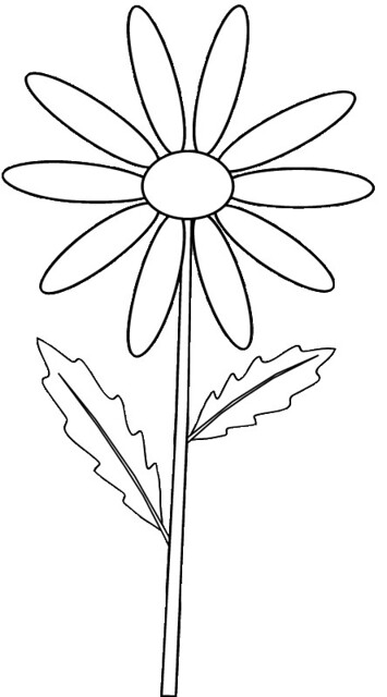 daisy coloring pages no stem - photo#8