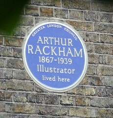 Photo of Arthur Rackham blue plaque