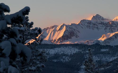 winter sunset mountain snow mountains sunrise colorado skiing hiking scenic peak places ridge subjects hikes 20110122benedicthuttrip