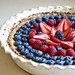 Berry-Topped White Balsamic Custard Tart