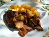 Duck and candied potatoes