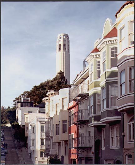 Coit Tower from Kearny Street