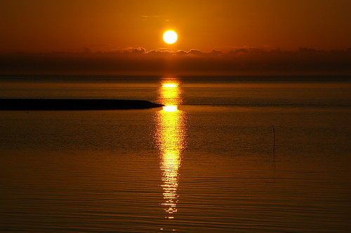 Sunset this evening...12-08-07