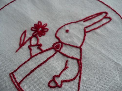 redwork rabbit