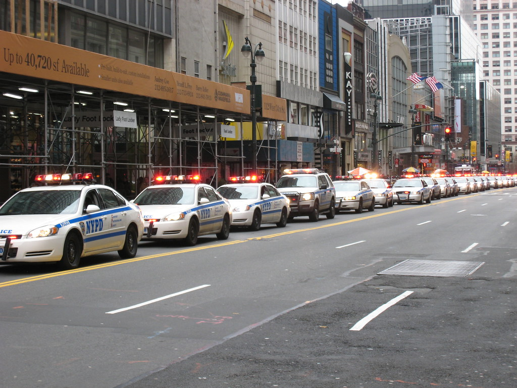 Wow, that's a lot of cop cars