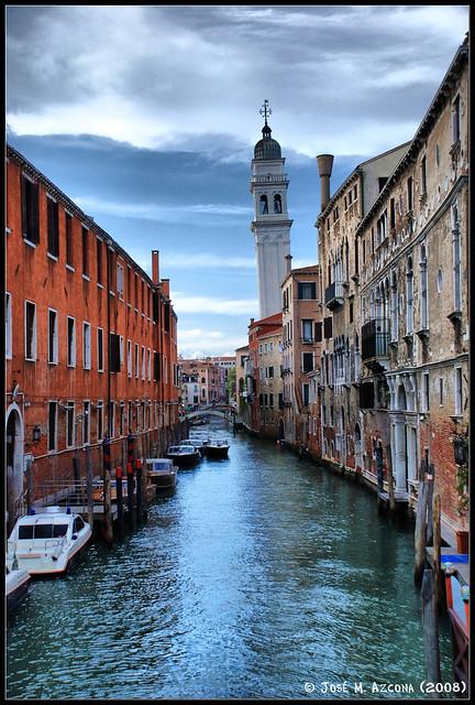 Venecia (Italia). Canal dei Greci e Iglesia de San Giorgio dei Greci.