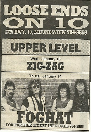 01/14/88 Foghat @ Loose Ends on 10, Moundsview, MN