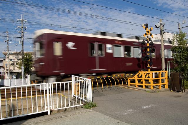 阪急 神戸線 瓦の宮西踏切