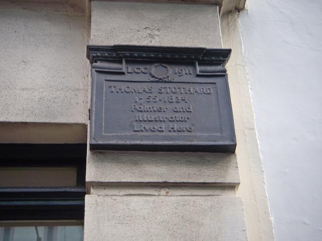 Photo of Thomas Stothard black plaque