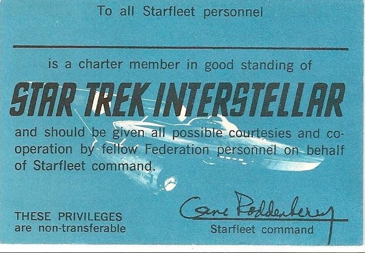 Star Trek membership card