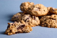 Dark Chocolate Chunk and Dried Cherry Oatmeal Cookies