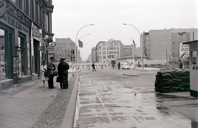 Friedrichstrasse at Checkpoint Charlie, Berlin, 28 August 1962