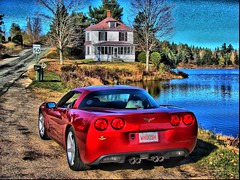 Painted C6 Corvette in the Country
