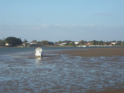 Boat on the sand bank