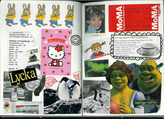 Diary Collage of Lycka - Happiness