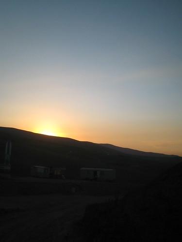 sunset mountain kyrgyzstan
