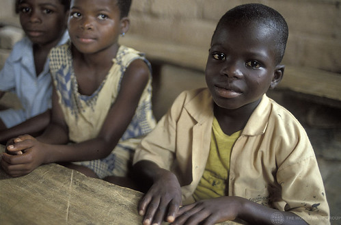 Young children in school. Ghana