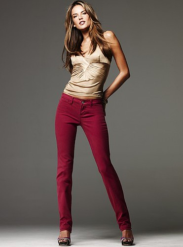 Colored Jeans maroon skinny fashion jeans