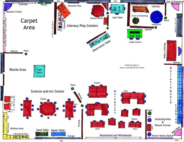 Z Arrangement Classroom Design Definition ~ Kindergarten floor plan a gallery on flickr