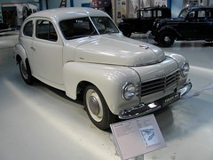 model car(0.0), mid-size car(0.0), automobile(1.0), automotive exterior(1.0), vehicle(1.0), compact car(1.0), antique car(1.0), sedan(1.0), classic car(1.0), vintage car(1.0), volvo pv444/544(1.0), land vehicle(1.0), motor vehicle(1.0),