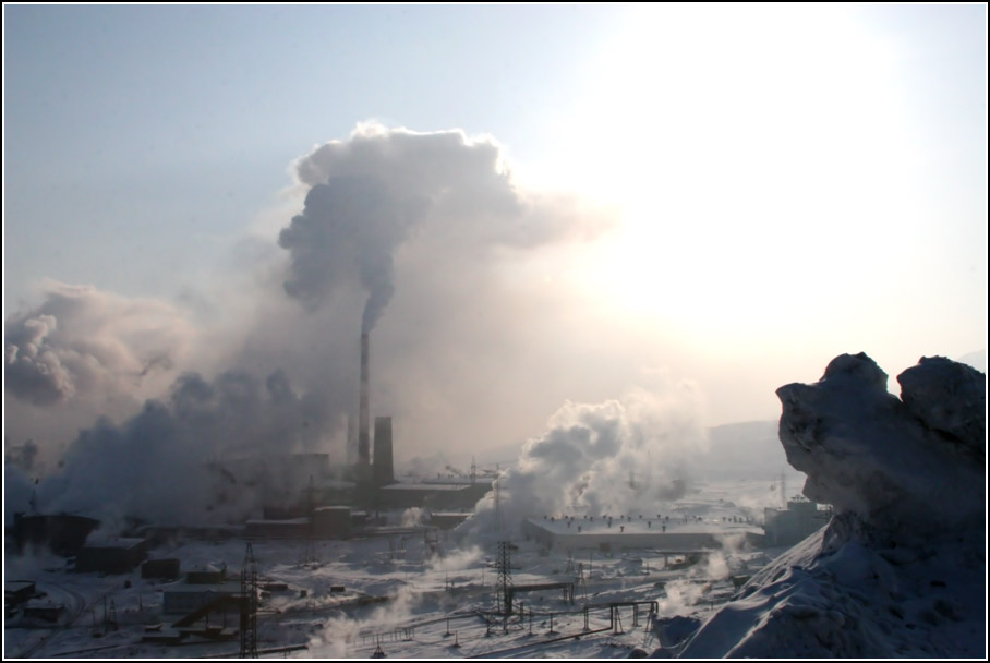 Norilsk City Where The Temperature Reaches Less Then 55