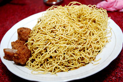 bakmi(0.0), fried noodles(0.0), lo mein(0.0), produce(0.0), yakisoba(0.0), vermicelli(0.0), noodle(1.0), mie goreng(1.0), pancit(1.0), spaghetti(1.0), spaghetti aglio e olio(1.0), food(1.0), dish(1.0), chinese noodles(1.0), cuisine(1.0), chinese food(1.0), chow mein(1.0),