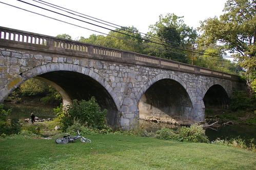 Antietam Creek Maryland Stone Arch Bridge Antietam Creek Funkstown Maryland