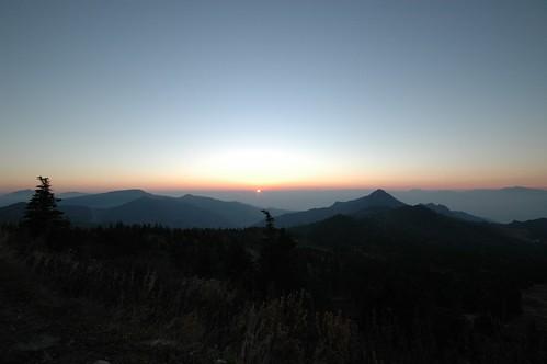 白根山(?)の夕日
