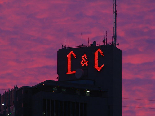 L&C Tower - 13 minutes after sundown
