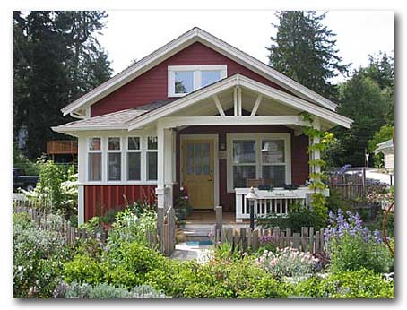 Cottage red with yellow door 2 flickr photo sharing for Red cottage house plans