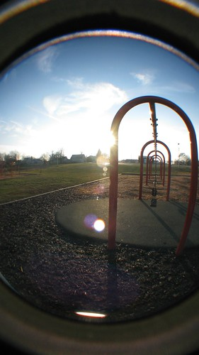 sun playground outdoors fisheye