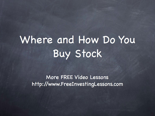 Chpt5-SecA: Where and How Do You Buy Stock? by palynp