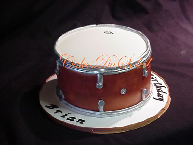 how to make a drum kit cake