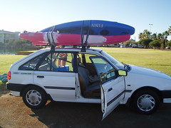 Two Kayaks on the car