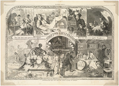 Thanksgiving Day, 1860. -- The two great classes of society