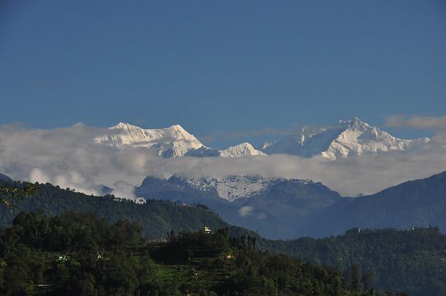 Mount Kanchenjunga from Tadong - Rinchenpong