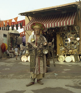 Water seller, Marrakech, 1988