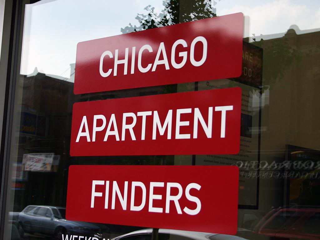 Door Vinyl Decal Logo - Chicago Apartment Finders